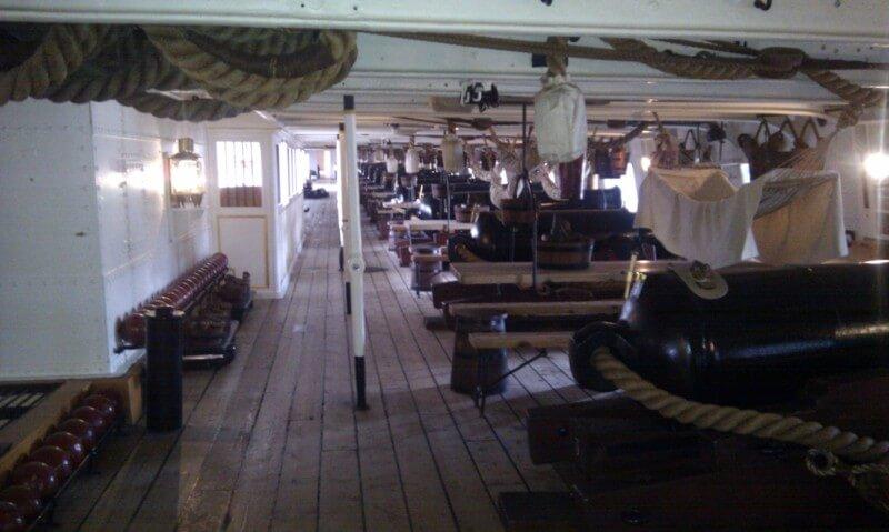 HMS Warrior - gun deck