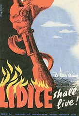 Lidice shall live poster
