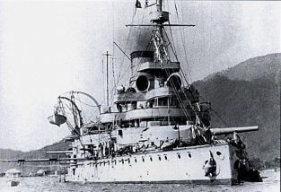 SMS Wien at anchor in Cattaro