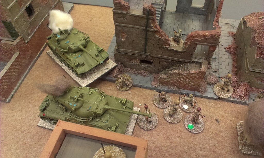 Government tanks being beaten off by Andreivian Turk infantry