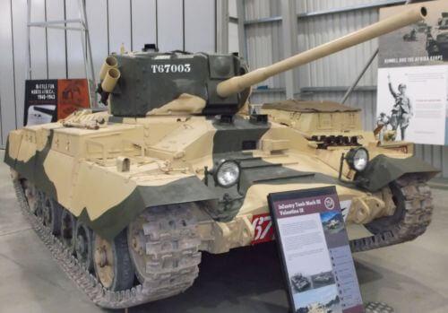 Valentine IX at Bovington Tank Museum
