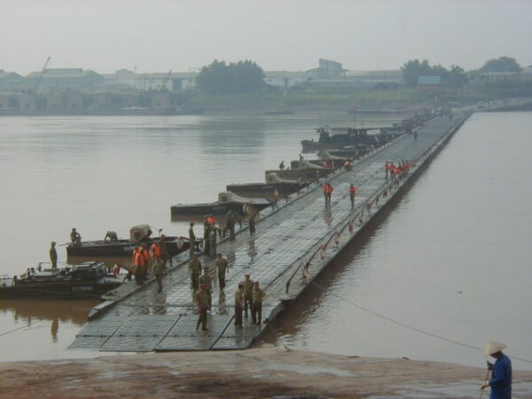PMP pontoon bridge