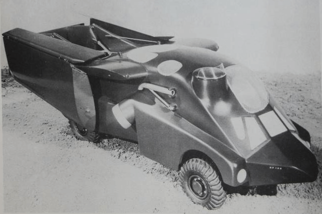 Handley Page vehicle with wings folded