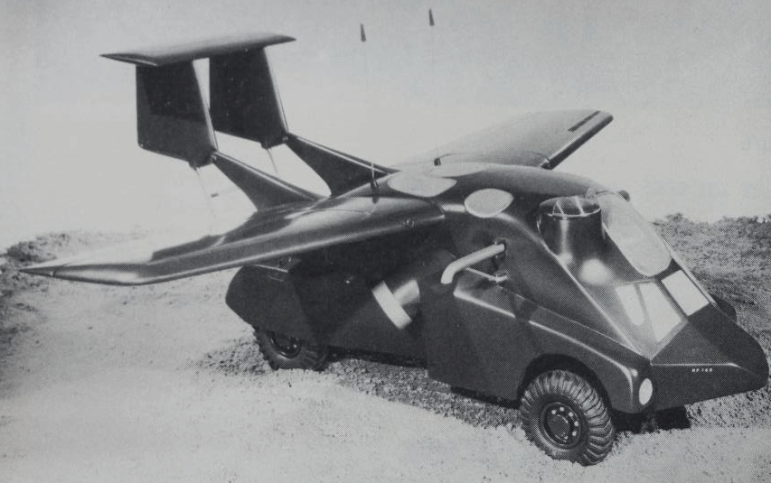 Handley Page vehicle with wings extended