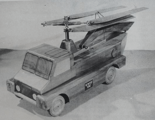 Westland vehicle with rotors folded